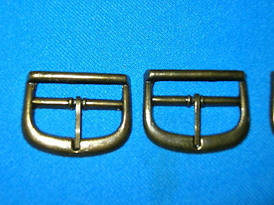 10 BUCKLES - 1 1/2 INCHES, ANTIQUE BRASS FINISH