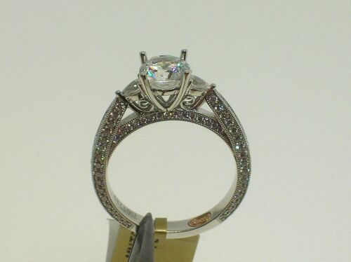 DEMARCO 18K W/G DW6037 SETTING 0.92 CT DIAMONDS - SIZE 6.5 US - RETAIL $5,544.00