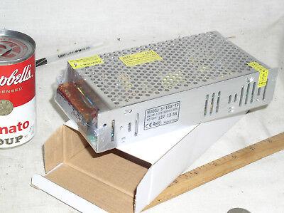 New S-150-12 Ac -dc Adj Adjustable Led Switching Power Supply 12v 12.5a 150w Usa