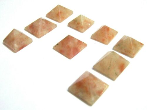 Nine Sunstone Gemstone Crystal Mini Feng Shui Baguas Healing GIft Metaphysical