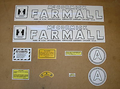 Ih Mccormic Farmall  A New Decal Set For Tractors  19-10-11