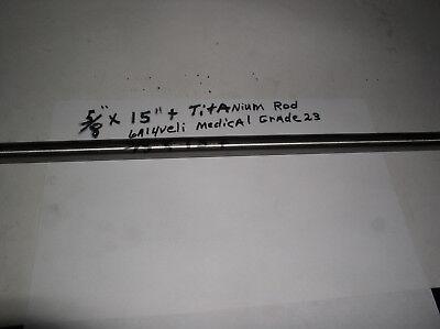 58 Titanium Round Rod 1 Pc. 58 X 15 6al-4veli 23 Polishedwill Saw Other