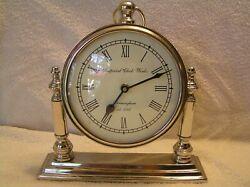 3pt8 REPRO IMPERIAL CLOCK WORKS BIRMINGHAM 1792 MANTEL DESK QUARTZ SHELF CLOCK