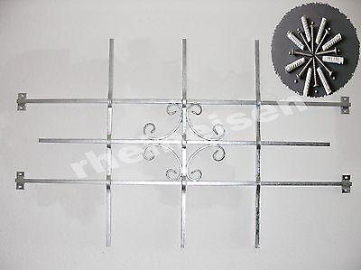 Fenstergitter Sicherheitsgitter Gitter Fenster feuerverzinkt 1140x700mm inkl Bef