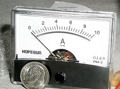Brand New Mini 10 A 10a Dc Internal Shunt Current Amp Ammeter Analog Panel Meter
