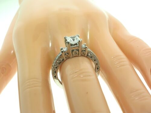 Tacori Platinum Ht2258 Mounting 0.50 Ctw Diamonds + Box-size 6.5 Us-retail $5030