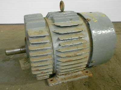 Delco Ac Motor Model B-197 30 Hp 1190 Rpm 220-440v 3phase W 5v Pulley 17936lr