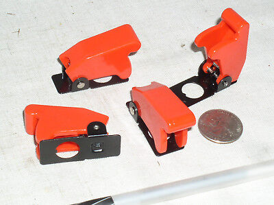 4 New Red Toggle Switch Flip Safety Cover Guard Guards Military 12 Inch Hole