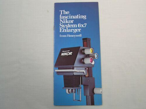 Honeywell Nikor System 6x7 Enlarger Brochure Booklet Pamphlet Rare Enlarger Info