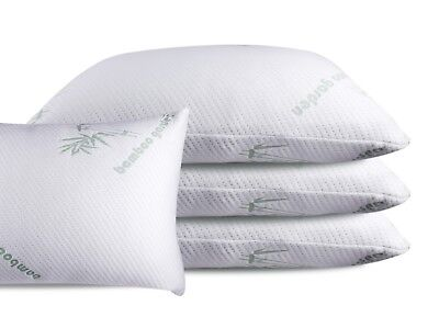 Made In Usa Bamboo Memory Foam Bed Pillow Helps Breathing And Reduces Snoring
