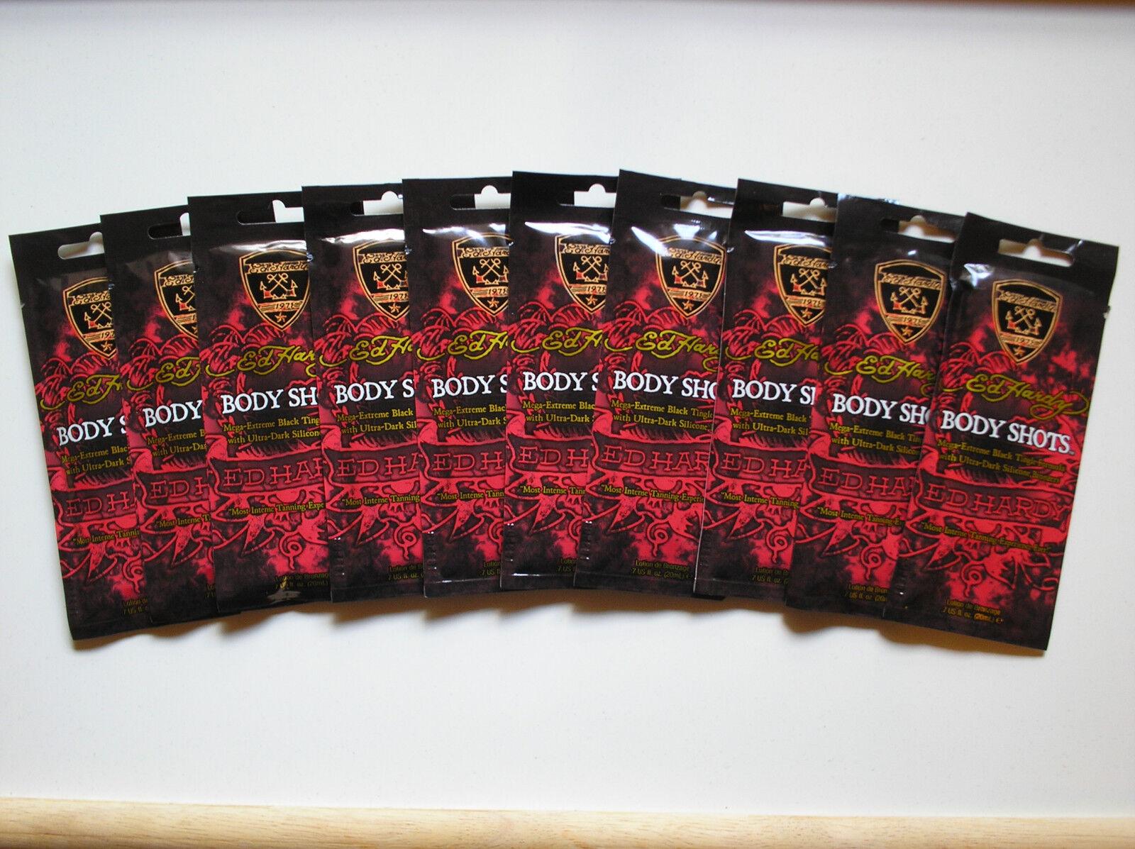 3 packets 2011 Ed Hardy Body Shots Mega Extreme Black Tingle