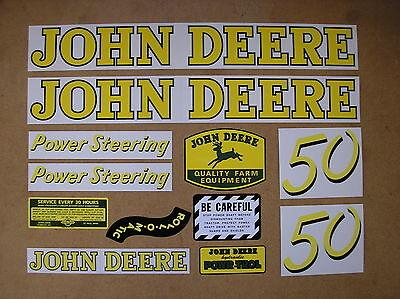 John Deere 50 New Decal Set For Tractors  19-9-6