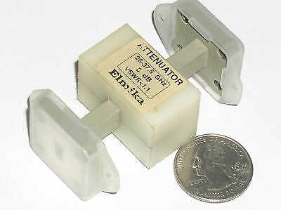 Used Elmika Fixed Waveguide Rf Attenuator 3 Db 26-37.5 Ghz