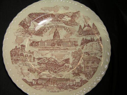 WEST VIRGINIA Vintage Vernon Kilns Souvenir Plate WONDERFUL!