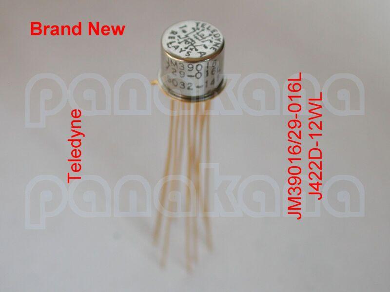 Teledyne JM39016/29-016L J422D-12WL DPDT Latching TO-5 Relay