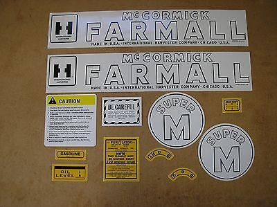 Ih Mccormic Farmall Super M  New Decal Set For Tractors  19-33-12