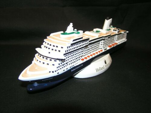 "RARE HOLLAND AMERICA LINE MS KONINGSDAM MODEL CRUISE SHIP OCEAN LINER 12"""