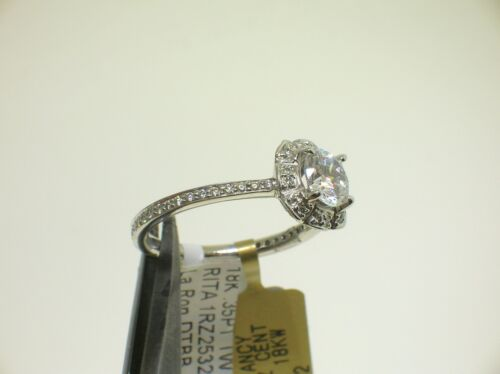 Ritani 18k W/g 1rz2532 Halo Setting 0.35 Ctw Diamonds Size 6.5 Us -retail $4621