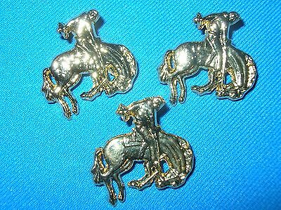 Пряжки HORSE-BRONKING HORSE W/RIDER-10 PIECES-GOLD COLOR