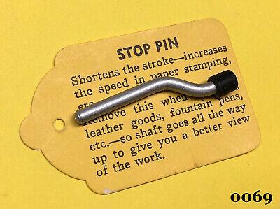 Kingsley Machine - One Ram Bar Stop Locking Pin - Hot Foil Stamping Machine