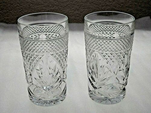 Vintage Set Of 2 Cristal D'Arques Durand Clear Glass Highball Tumblers.