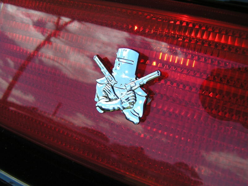NED KELLY CAR TAILLIGHT EMBLEM PAIR Chrome Small Metal CAR BADGES *New* Outlaw