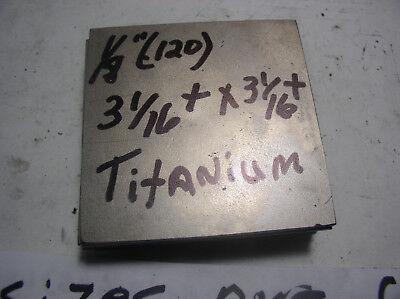 18 Titanium Flat Stock Bar 1 Pc..18 X 3 116 X 3 116 Knife Material