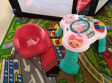 Activity centre and red bumbo