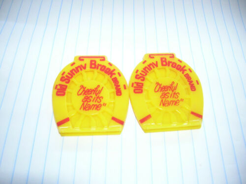 2 VTG OLD SUNNY BROOK BRAND CHEERFUL AS ITS NAME  MONEY CLIPS