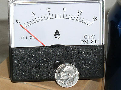 1 New 5 10 15a 15 A Amp Amps Ampere Ac Analog Needle Current Panel Meter Ammeter