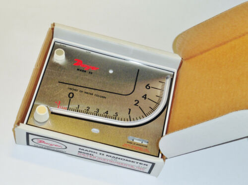 NEW Dwyer Mark II 2 Model 26 Manometer w/ oil and all accessories NIB