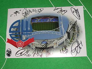 Bolton-Wanderers-Stadium-Photograph-Signed-by-the-2013-14-Squad-13-Autographs