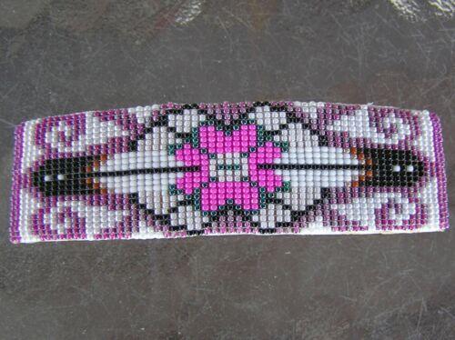 Very Nice Navajo Indian Handmade Beaded Barrette OVER 1,400 Beads Duane Yazzie