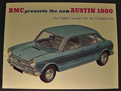 1965 BMC Austin 1800 Catalog Sales Brochure Excellent Original 65