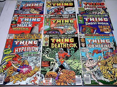 MARVEL TWO-IN-ONE  NINE ISSUES 28 54 67 80 81 88 90 96 AND 100 BRONZE 1977-1983