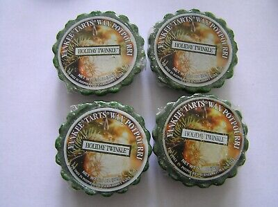 Yankee Candle Holiday Twinkle Tarts Melts Lot of 4 New Wrapped Fast Shipping