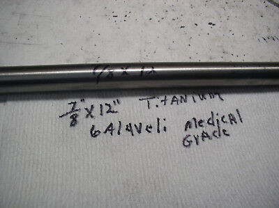 78titanium Round Rod 78 Dia.x 12 Or Longer Medical Grade 6al-4veli 23