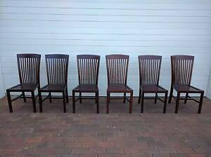 FREEDOM 6x Dining Chairs - Hardwood South Coogee Eastern Suburbs Preview