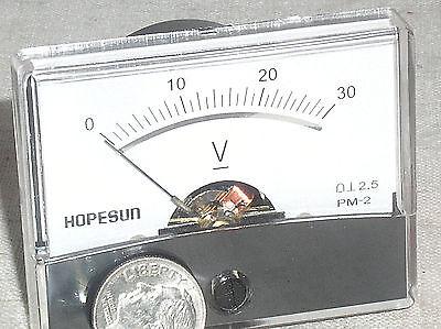 Brand New 12v 30v 30 V Volt Dc Analog Pointer Needle Panel Battery Voltage Meter