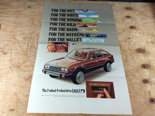 """1981 1982 1983 AMC Eagle NOS dealer showroom large poster sign 37"""" X 24"""