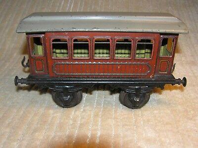 Bing 1 Gauge, 4 Wheel Passenger Car, 5 Windows, Brown