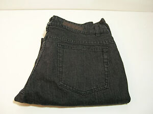 Lee-Riveted-Black-Denim-Womens-Jeans-Size-10M