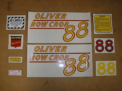 Oliver 88 Row Crop New Decal Set For Tractors  18-5-75
