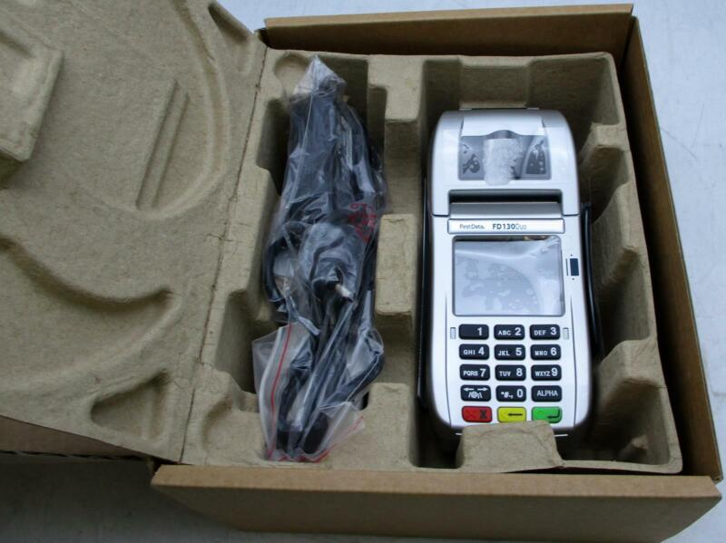 FirstData FD130Duo Credit Card Terminal POS New Open Box