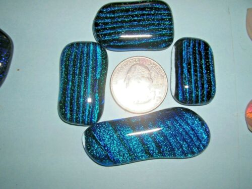 L 3 Dichroic glass cabochons cabs, extra special colors low price