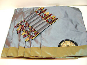 Japanese-Rising-Sun-Placemats-And-Chopsticks-Set-Of-Six-New