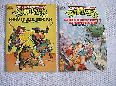 New Lot of 2 Vintage Teenage Mutant Ninja Turtles Coloring Books 1988 No Marks