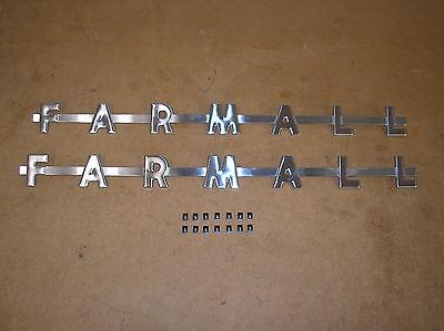 Ih  Farmall 300 350 400 450 Farmall Tractor Hood Side Emblems 20-23-4