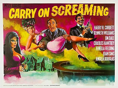 "Carry on Screaming 1966 16"" x 12"" Reproduction Movie Poster Photograph"