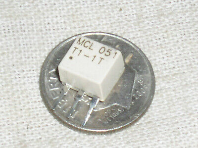 New Nos T1-1t Mini Circuits Smt Smd Rf Transformer 6 Pin 50 Ohm 0.08-200mhz Usa